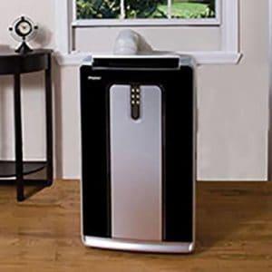 ar condicionado portátil preto