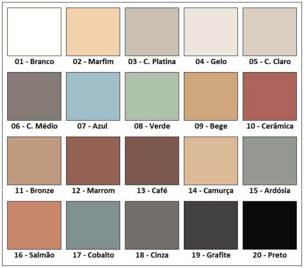 Foto de palheta de cores para rejunte