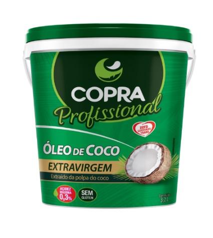 OLEO DE COCO COPRA EXTRA VIRGEM BALDE 3,2L