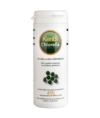 CAPSULAS CHLORELLA 90G (100% PURA) 450COMPRIMIDOS (KenBi)