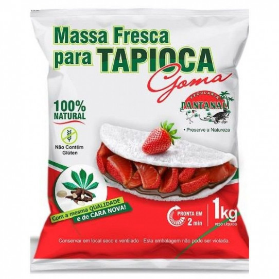 TAPIOCA MASSA PRONTA 1KG (Pantanal)