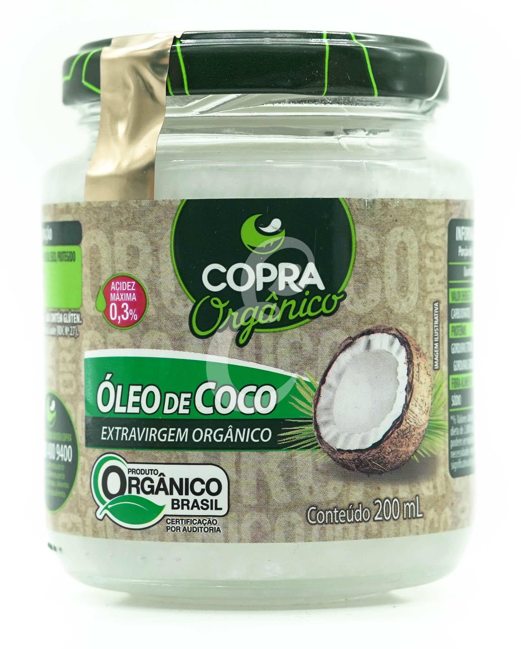 OLEO DE COCO 200ML EXTRA VIRGEM ORGANICO COPRA