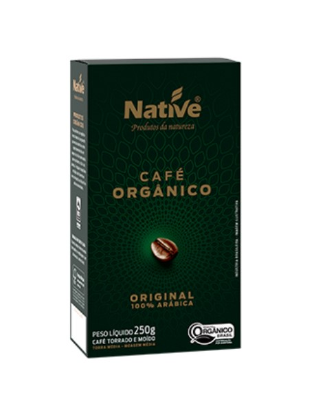 CAFE ORGANICO MOIDO TORRADO NATIVE 250g
