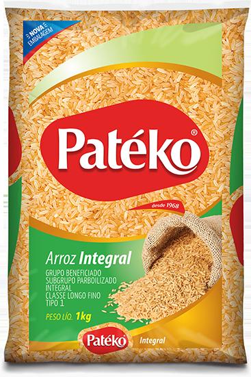 ARROZ INTEGRAL LONGO FINO PATEKO 10X1KG