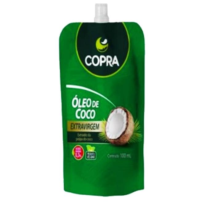 OLEO DE COCO 100ML EXTRA VIRGEM STAND POUCH COPRA
