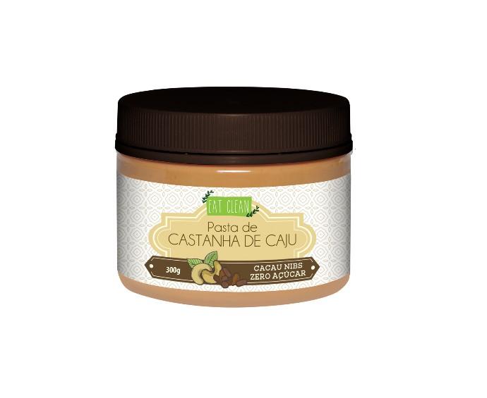 PASTA DE CASTANHA CAJU C/CACAU NIBS 300g(eat clean)