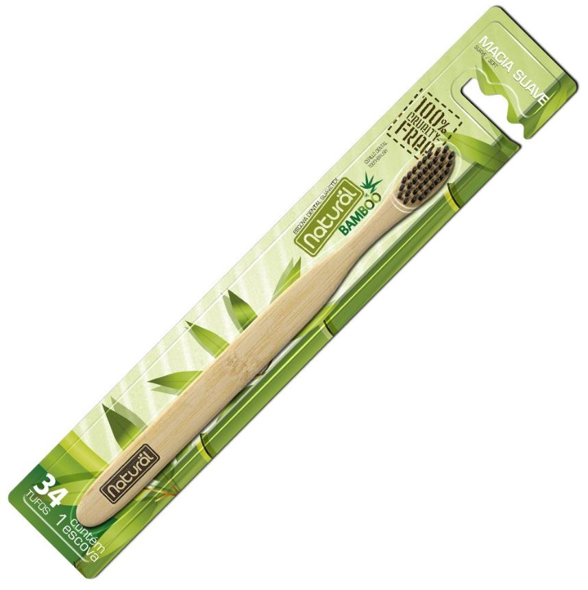 ORGANICONATURAL ESCOVA DENTAL NATURAL BAMBOO E CARVAO