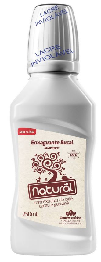 ORGANICONATURAL ENXAGUANTE BUCAL EXTRATOS CAFE CACAU E GUARANA 250ML