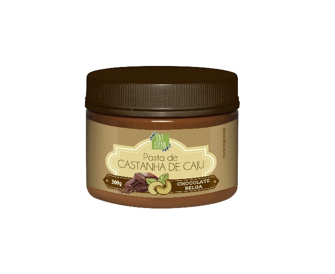 PASTA DE CAJU C/ CHOCOLATE BELGA 300g (eatclean)