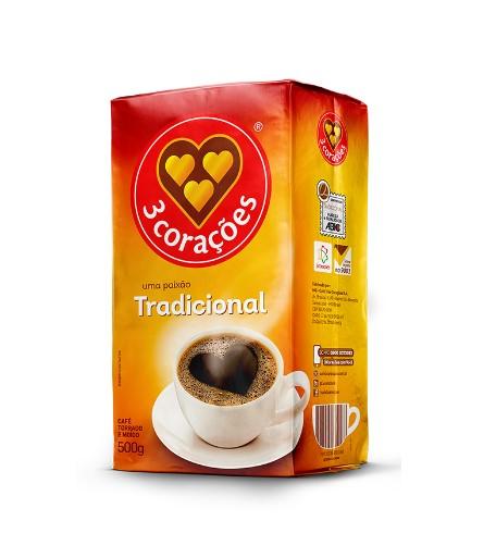 CAFE MOIDO 3 CORAÇÕES 500g