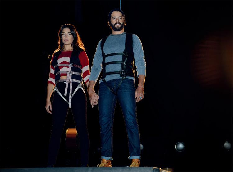 Los actores brasileños oficializaron su romance en noviembre del año pasado. El último martes participaron juntos del primer ensayo de la afamada compañía teatral.