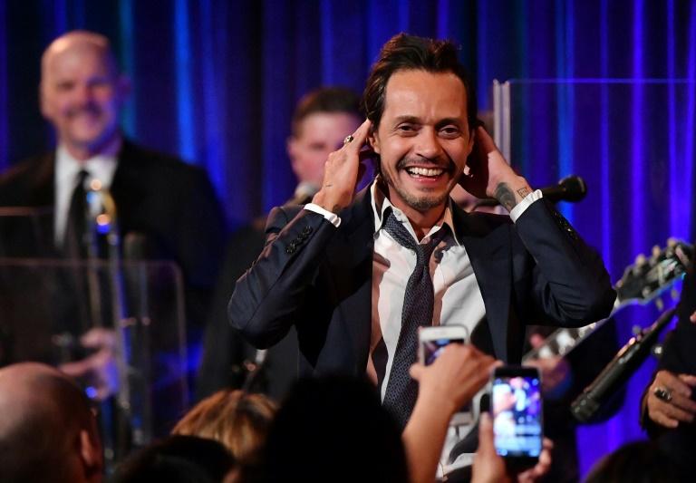 Marc Anthony en una actuaación en una gala en Nueva York, el 21 de marzo de 2017 (Getty/AFP - Mike Coppola)