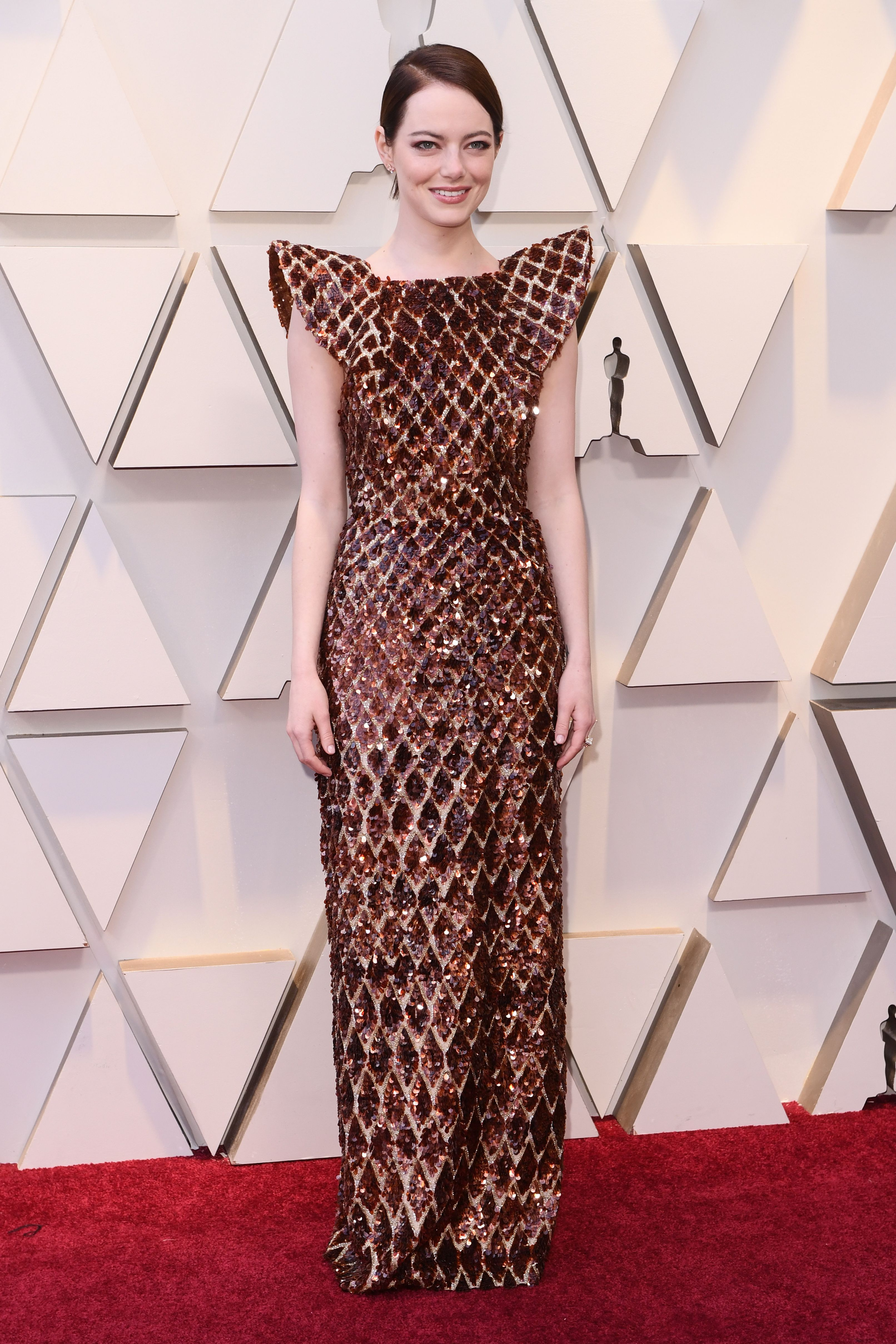 Mandatory Credit: Photo by David Fisher/REX/Shutterstock (10112734gr) Emma Stone 91st Annual Academy Awards, Arrivals, Los Angeles, USA - 24 Feb 2019