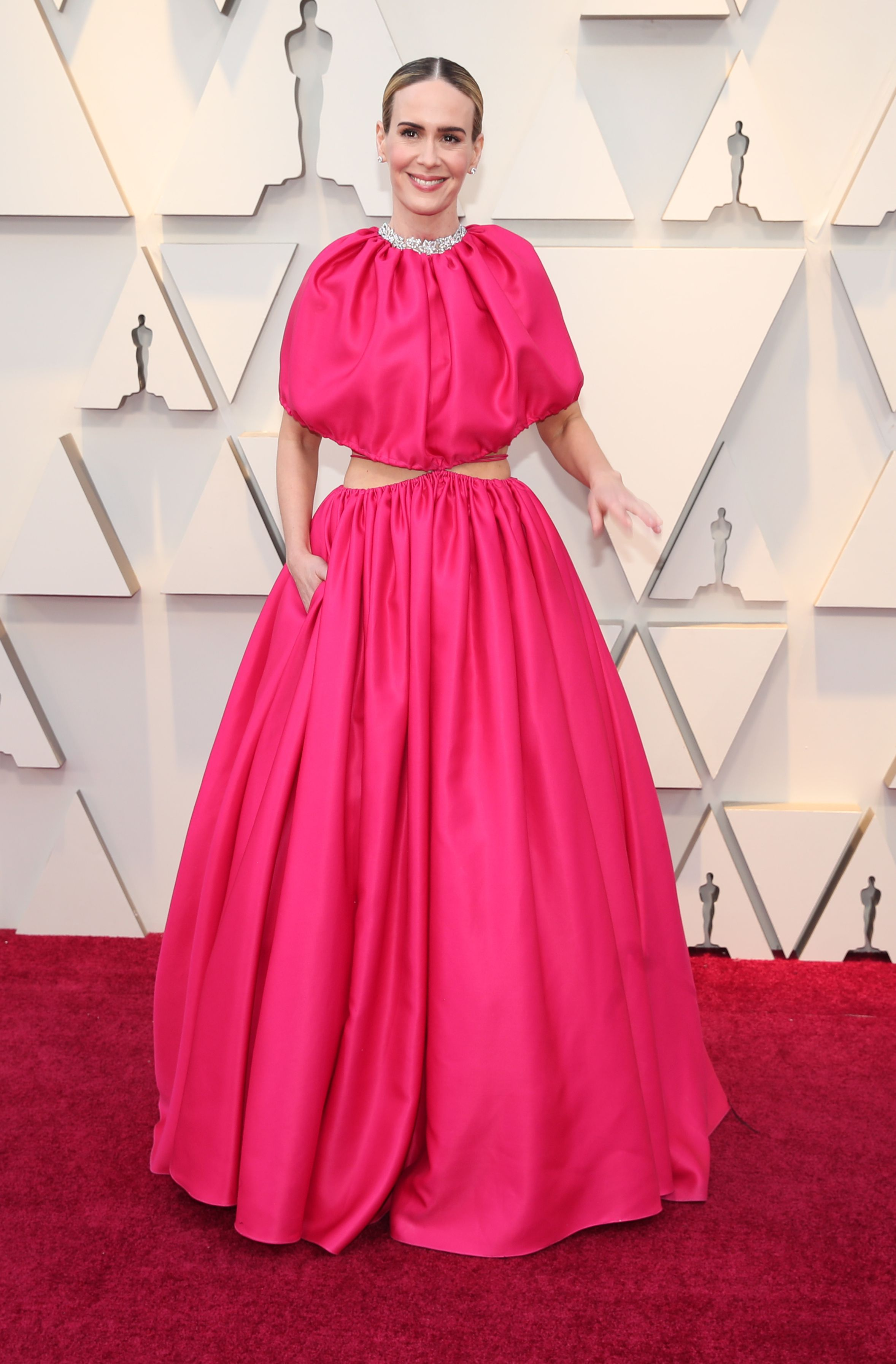 Mandatory Credit: Photo by Christopher Polk/REX/Shutterstock (10113255jq) Sarah Paulson 91st Annual Academy Awards, Arrivals, Los Angeles, USA - 24 Feb 2019