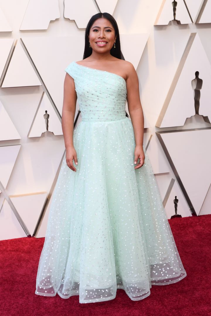 Mandatory Credit: Photo by David Fisher/REX/Shutterstock (10112734cg) Yalitza Aparicio 91st Annual Academy Awards, Arrivals, Los Angeles, USA - 24 Feb 2019