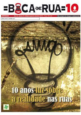 Jornal Boca de Rua celebra 10 anos