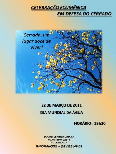 Dia Mundial da Água: Celebração ecumênica em defesa do Cerrado