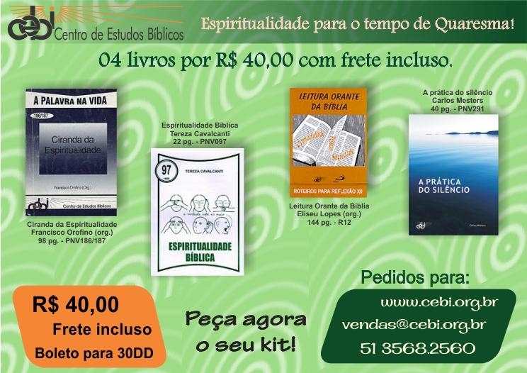 Espiritualidade para o tempo de quaresma: 4 livros por R$ 40
