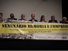 Carlos Mesters é homenageado em Seminário sobre memória da Ditadura