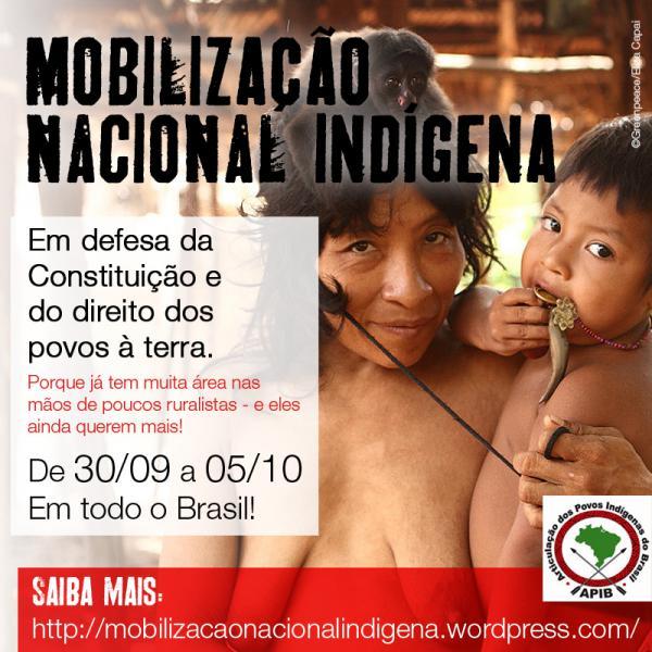 Mobilização Nacional Indígena prevê manifestações no país