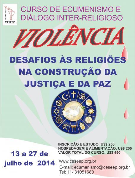 Violência é tema do curso de Ecumenismo e Diálogo Inter-Religioso
