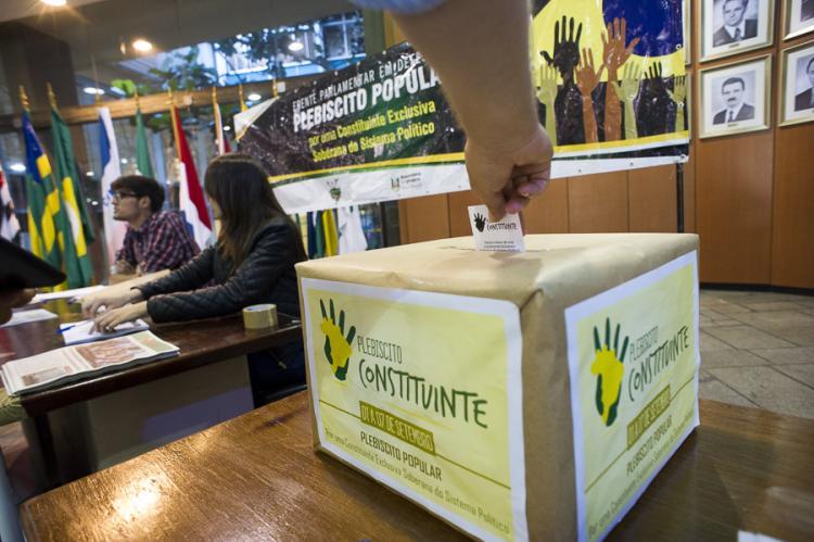 Plebiscito Constituinte ganha mais pontos de votação em todo o país