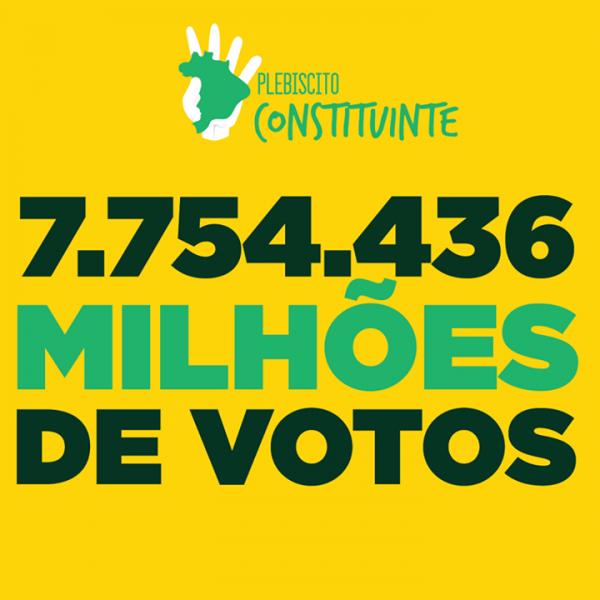 7.754.436 MILHÕES DE PESSOAS VOTARAM NO PLEBISCITO!