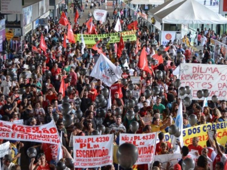 PL da Terceirização será votado em meio a protestos