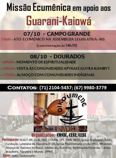 Missão Ecumênica em apoio aos Guarani-Kaiowá