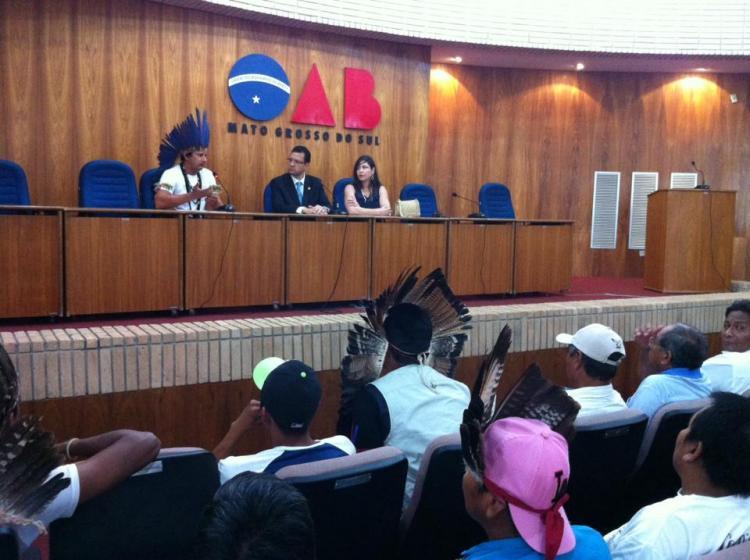 Indígenas amanhecem na Ordem dos Advogados de Mato Grosso do Sul (OAB/MS)