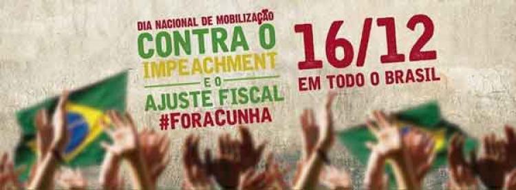 Movimentos sociais se mobilizam contra o golpe em todo o país no dia 16 de dezembro