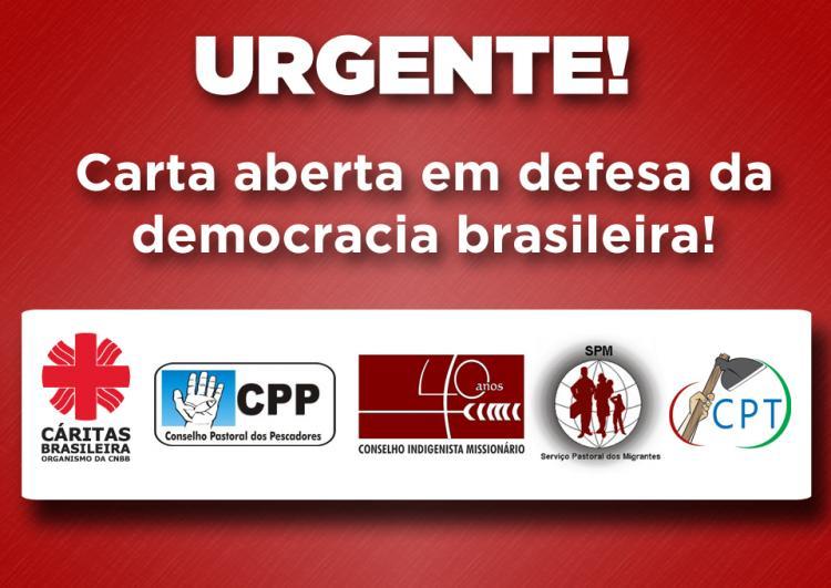 Carta aberta em defesa da democracia brasileira
