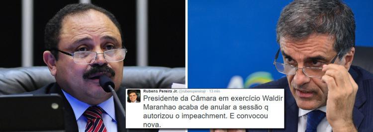 Maranhão anula sessão que aprovou impeachment