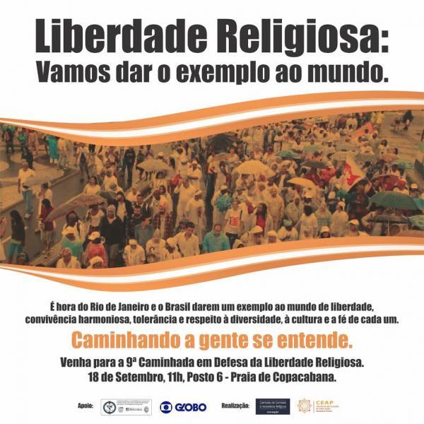 RJ - 9ª Caminhada em Defesa da Liberdade Religiosa