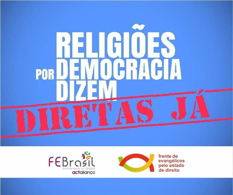 Religiões por Democracia: Diretas Já!