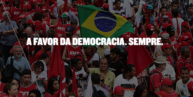 """""""Por Direitos e Democracia, a Luta é Todo Dia!"""""""