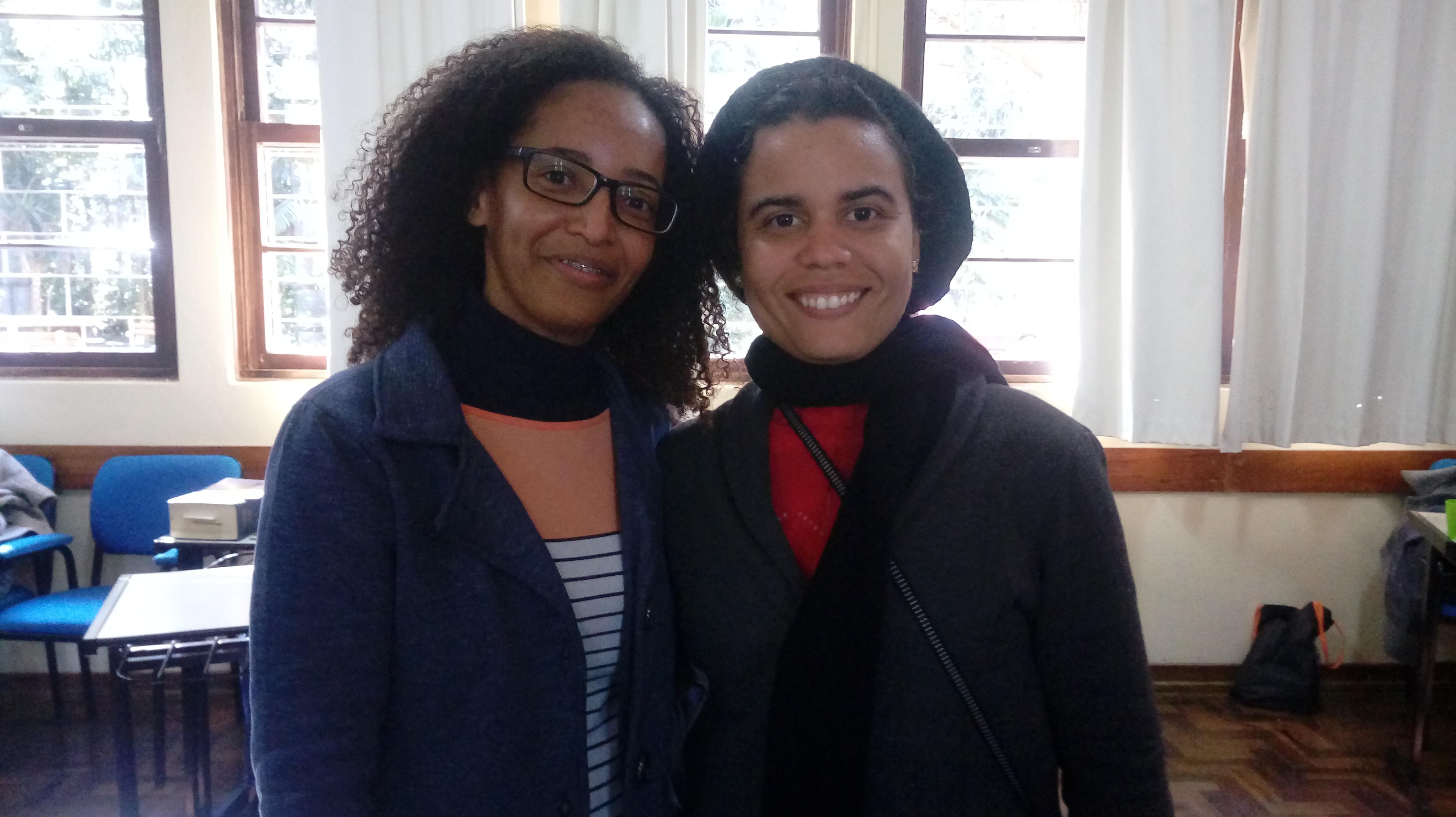 Caroline e Camila vieram da Bahia para participar da formação.