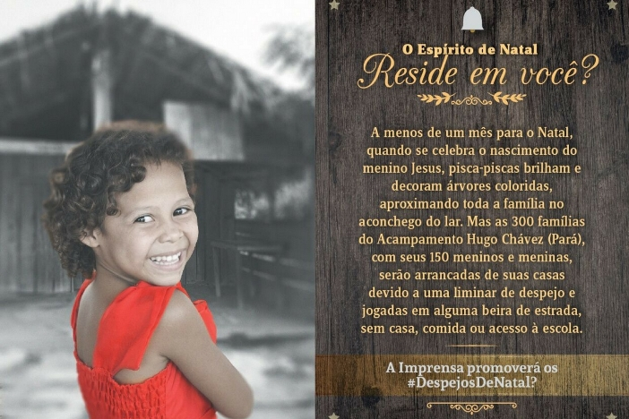 #DespejosDeNatal: Campanha contra o despejo