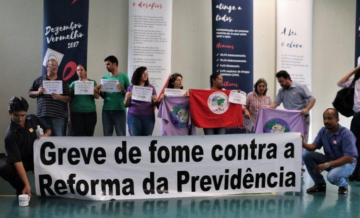 Dez trabalhadores darão início ao jejum contra a reforma da previdência