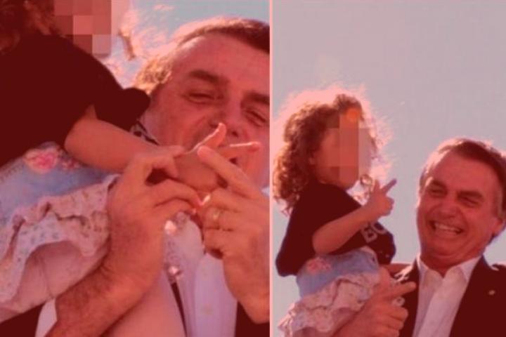 O Jesus da Bíblia e a menina que aprendeu com Bolsonaro o gesto de disparar um revólver