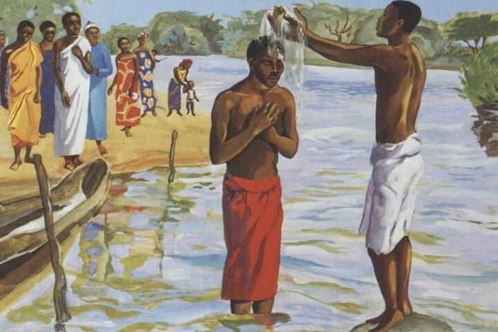 João Batista proclama um batismo de conversão