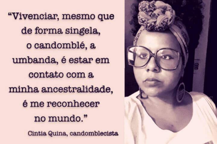 """""""Vivenciar o candomblé é estar em contato com a minha ancestralidade, é me reconhecer no mundo"""", entrevista com Cintia Quina"""