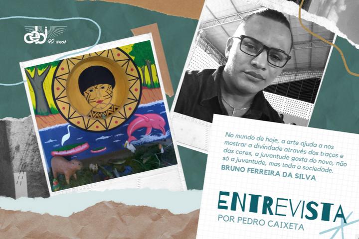 Entrevista com Bruno Silva: a arte com expressão da religiosidade e das causas sociais e ambientais