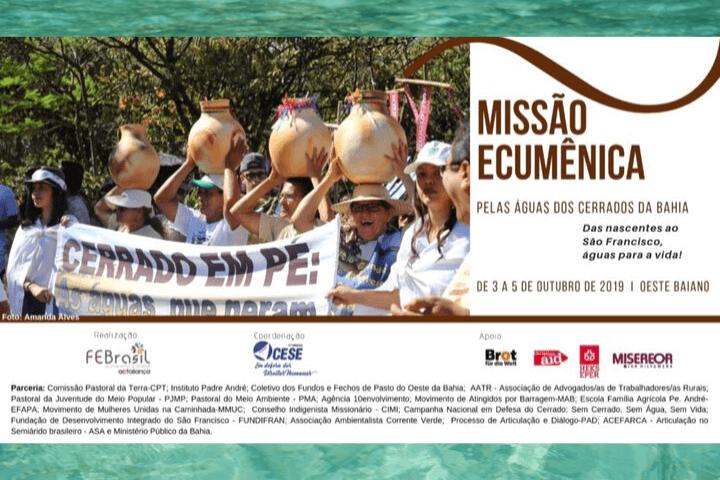 Missão Ecumênica visita oeste baiano e denuncia crise hídrica e violações de direitos socioambientais