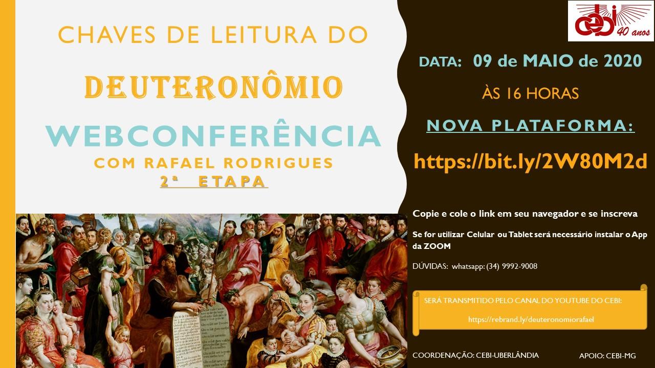 CEBI Ubelândia/MG : webconferência sobre o livro do Deuteronômio- 2ª Etapa