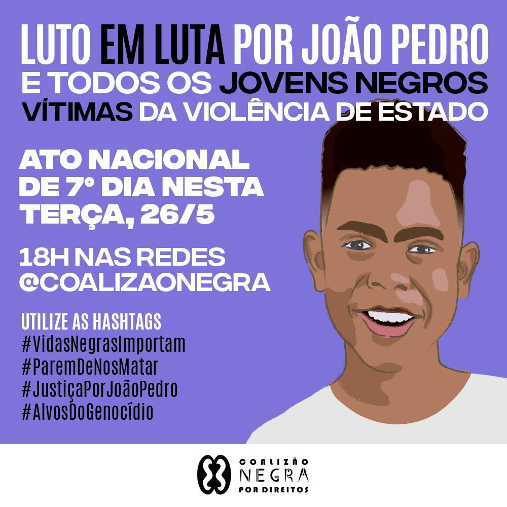 CEBI BAHIA  convoca para Ato Nacional de 7º Dia – Luto em luta por João Paulo.