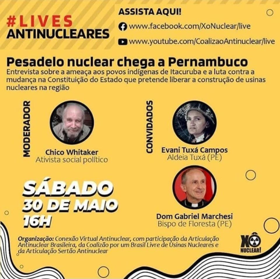 CEBI PE apoiando a luta contra a instalação da usina nuclear no sertão pernambucano