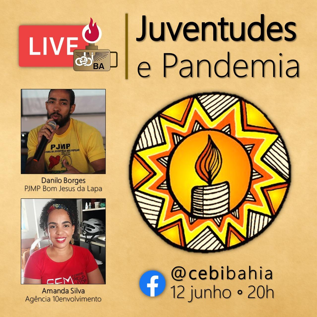 "Projeto Live CEBI BA discute nesta sexta ""Juventudes e Pandemia"""