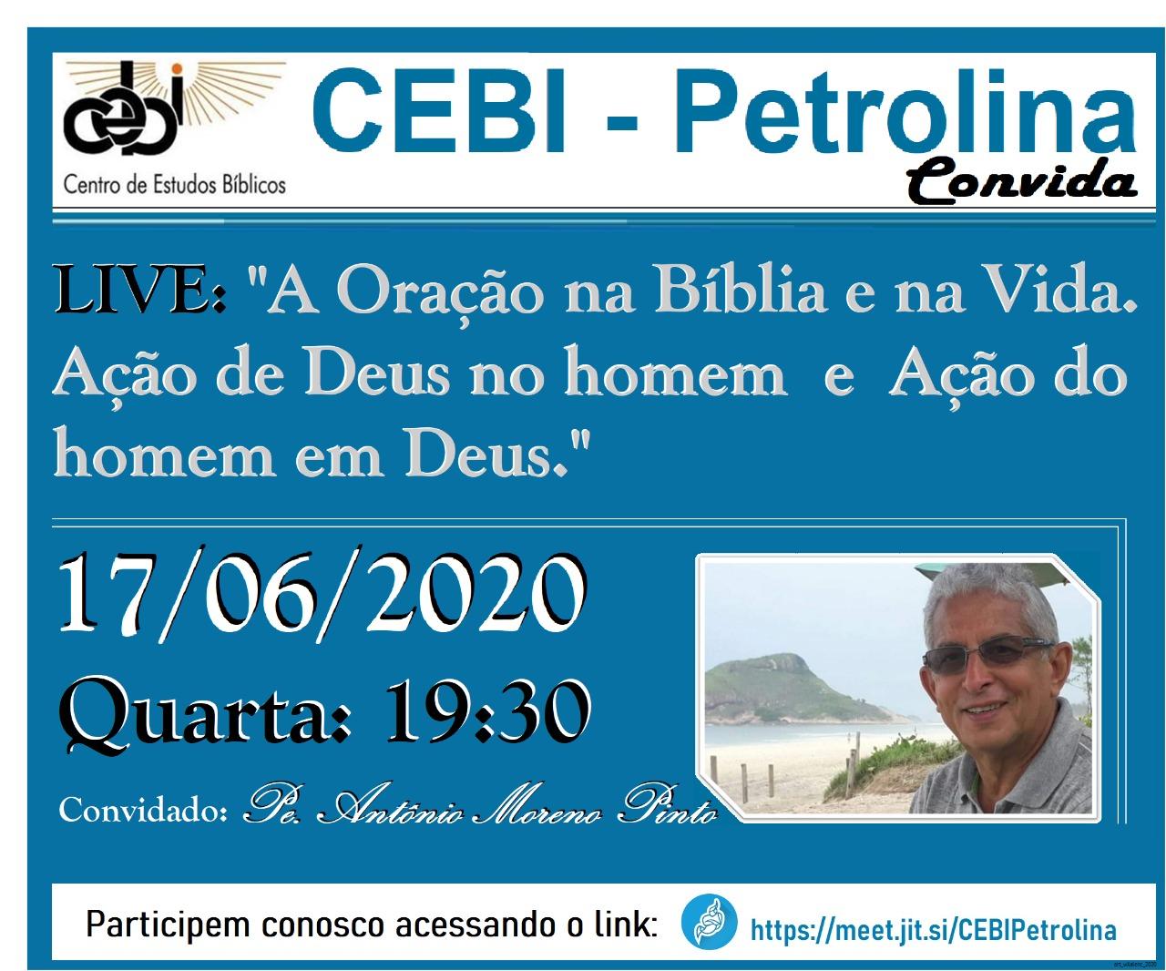 CEBI Petrolina – Oração na Vida e na Bíblia (Live)