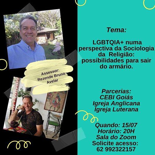 CEBI Goiás – LGBTQIA+: Perspectiva sociológica da religião para sair do armário
